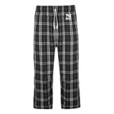 Black/Grey Flannel Pajama Pant-Official Logo