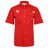 Columbia Bonehead Red Short Sleeve Shirt-N Mark