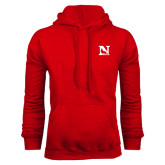 Red Fleece Hoodie-N Mark