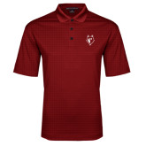 Red Performance Fine Jacquard Polo-Wolf Head