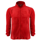 Fleece Full Zip Red Jacket-Official Logo