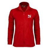 Ladies Fleece Full Zip Red Jacket-N Mark