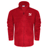 Columbia Full Zip Red Fleece Jacket-N Mark