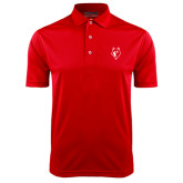 Red Dry Mesh Polo-Wolf Head