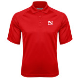 Red Textured Saddle Shoulder Polo-N Mark