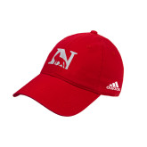 Adidas Red Slouch Unstructured Low Profile Hat-N Mark