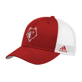 Adidas Red Structured Adjustable Hat-Wolf Head