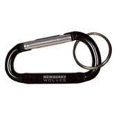Black Carabiner with Split Ring-Newberry Wolves Engraved