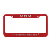 Mom Metal Red License Plate Frame-Mom