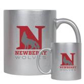 11oz Silver Metallic Ceramic Mug-Official Logo