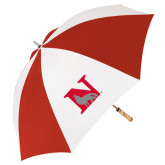 62 Inch Red/White Umbrella-N Mark