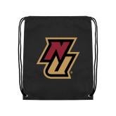 Black Drawstring Backpack-NU