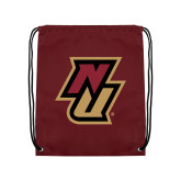 Maroon Drawstring Backpack-NU