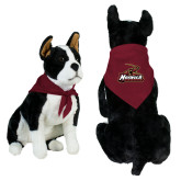 Maroon Pet Bandana-Primary Mark