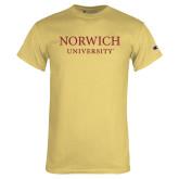 Champion Vegas Gold T Shirt-Wordmark Stacked