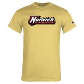 Champion Vegas Gold T Shirt-Norwich Wordmark