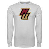 White Long Sleeve T Shirt-NU