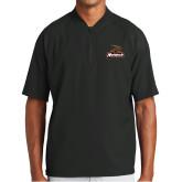New Era Black Cage Short Sleeve 1/4 Zip-Primary Mark