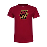 Youth Maroon T Shirt-NU