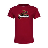Youth Maroon T Shirt-Ice Hockey