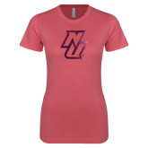 Next Level Ladies SoftStyle Junior Fitted Pink Tee-NU  Foil