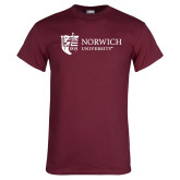 Maroon T Shirt-University Mark Flat