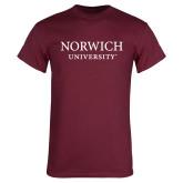 Maroon T Shirt-Wordmark Stacked