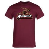 Maroon T Shirt-Ice Hockey