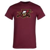Maroon T Shirt-NU Shield