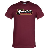 Maroon T Shirt-Norwich Wordmark