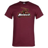 Maroon T Shirt-Distressed Mark