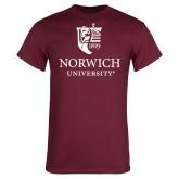 Maroon T Shirt-University Mark