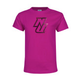 Youth Cyber Pink T Shirt-NU  Foil