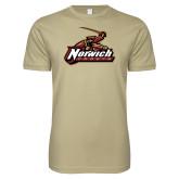 Next Level SoftStyle Khaki T Shirt-Primary Mark