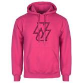 Fuchsia Fleece Hoodie-NU Hot Pink Glitter