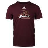 Adidas Maroon Logo T Shirt-Primary Mark