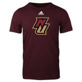 Adidas Maroon Logo T Shirt-NU