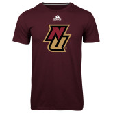 Adidas Climalite Maroon Ultimate Performance Tee-NU