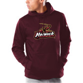 Under Armour Maroon Armour Fleece Hoodie-Rugby