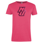 Ladies Fuchsia T Shirt-NU  Foil