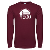 Maroon Long Sleeve T Shirt-Forging The Future