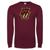 Maroon Long Sleeve T Shirt-NU