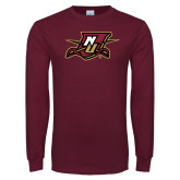 Maroon Long Sleeve T Shirt-NU Shield