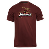Russell Core Performance Maroon Tee-Primary Mark