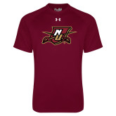 Under Armour Maroon Tech Tee-NU Shield