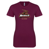 Next Level Ladies SoftStyle Junior Fitted Maroon Tee-Alumni