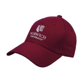Maroon Heavyweight Twill Pro Style Hat-University Mark
