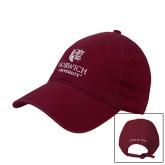 Maroon Twill Unstructured Low Profile Hat-Institutional logo with Class of 1974 hats