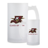 Full Color Decorative Frosted Glass Mug 16oz-NU Shield with Class of 2014