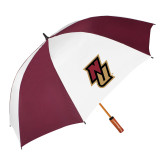 62 Inch Maroon/White Vented Umbrella-NU
